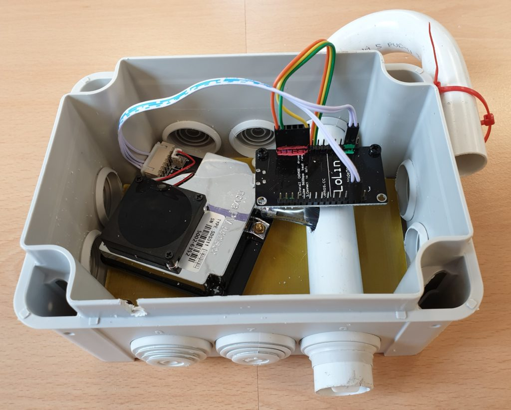 Completed air quality sensor kit